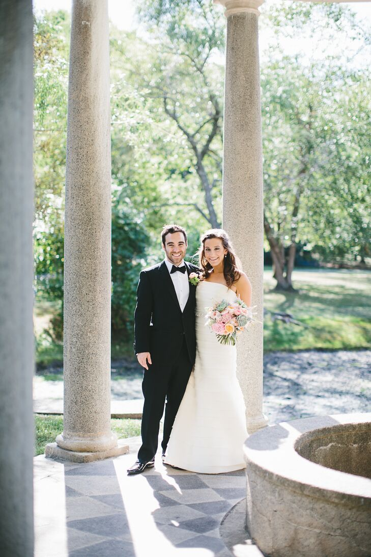 Jacob's Hugo Boss tuxedo and Jordan's chic Vera Wang strapless gown reflected both the natural beauty of the ceremony and the elegant feel of the reception.