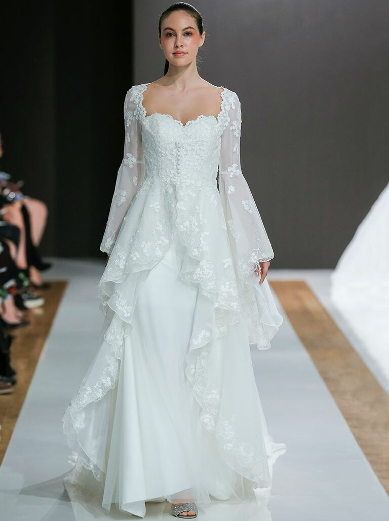 Mark Zunino Fall 2018 Collection: Bridal Fashion Week Photos