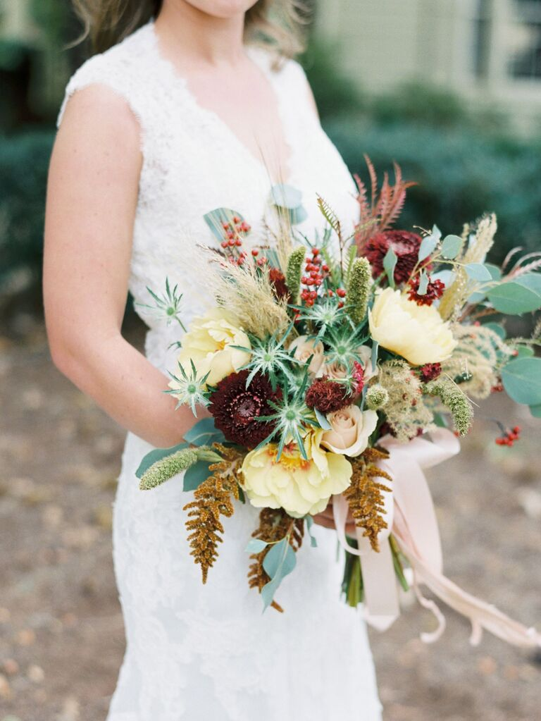 Autumnal Wildflower Bouquet