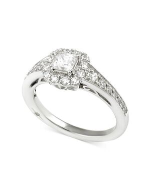 Macy's Fine Jewelry Elegant Princess Cut Engagement Ring