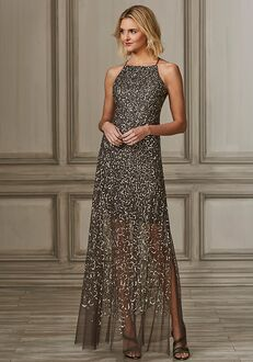 Adrianna Papell Platinum 40156 Bateau Bridesmaid Dress