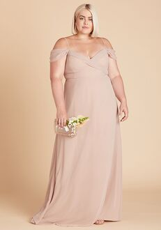 Birdy Grey Spence Convertible Dress Curve in Taupe V-Neck Bridesmaid Dress