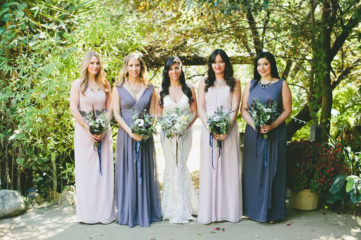 a51a7a3c5f0 Instead of choosing one gown for all of her bridesmaids to wear