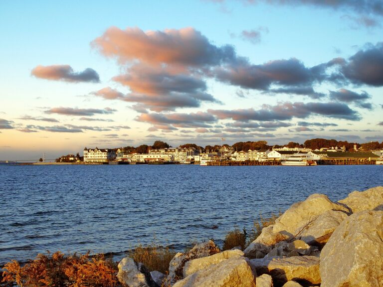 US wedding destination Mackinac Island, Michigan
