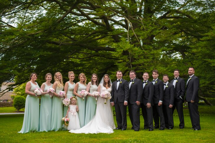 Lauren Conrad Seafoam A Line Bridesmaid Dresses