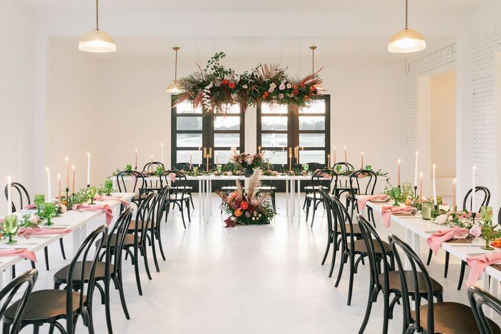 Black Bentwood Chairs at Texas Wedding Reception
