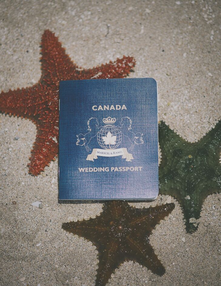 Fake passports are a fun way to present destination-wedding invitations and give guests quick bios on the newlyweds-to-be!