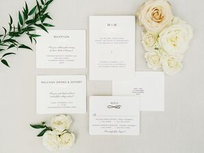 Simple and Classic Wedding Invitations with Typography