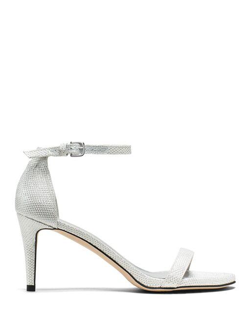 60442da0f16 Stuart Weitzman Nunaked Sandal Argento Silver Noir Wedding Accessory ...