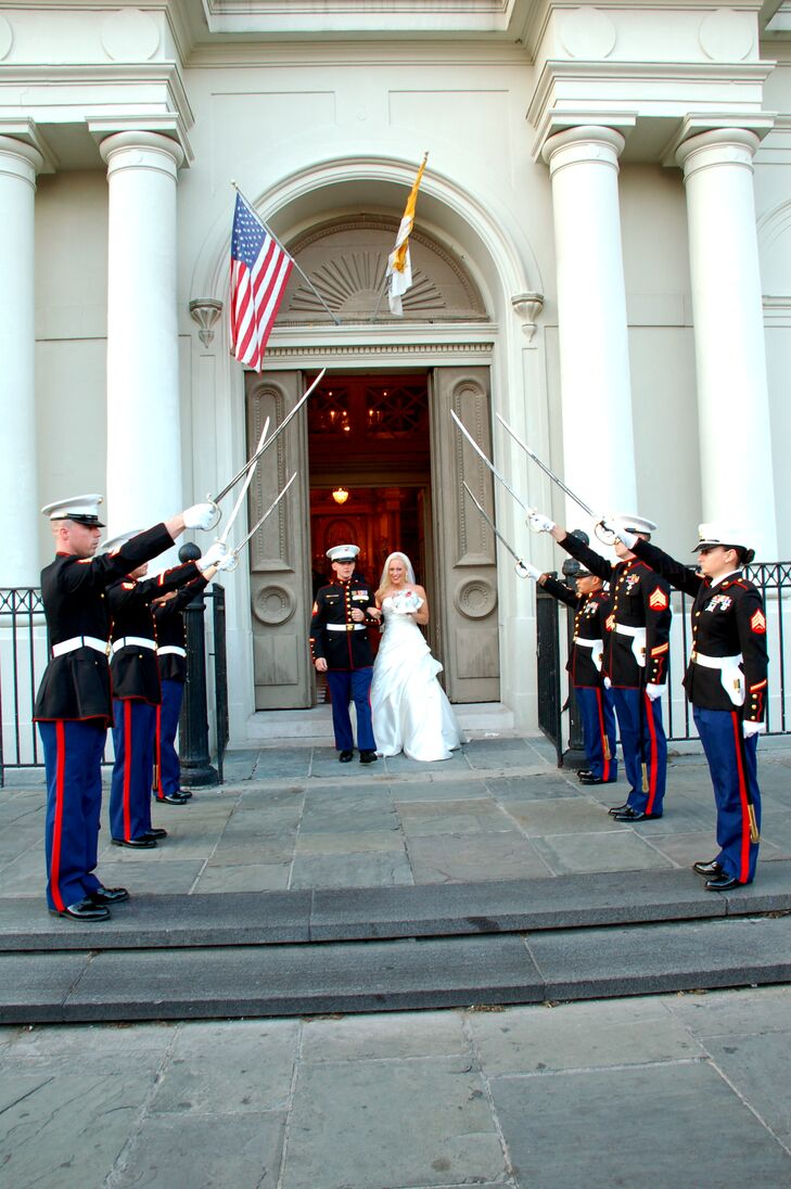 Marine Corps Sword Salute from St. Louis Cathedral