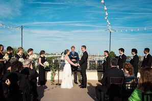 Alex and Bobby's Rooftop Waterfront Ceremony