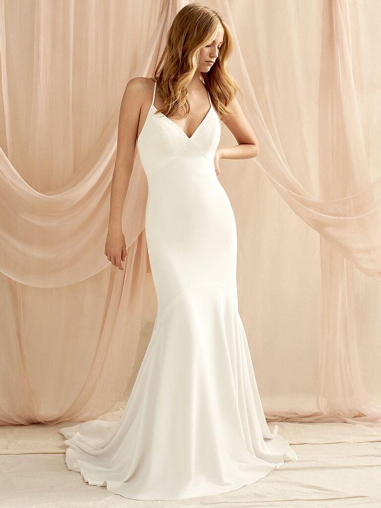 Savannah Miller fitted bikini top wedding dress
