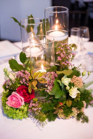 Garden-Inspired Floating Candle Centerpieces
