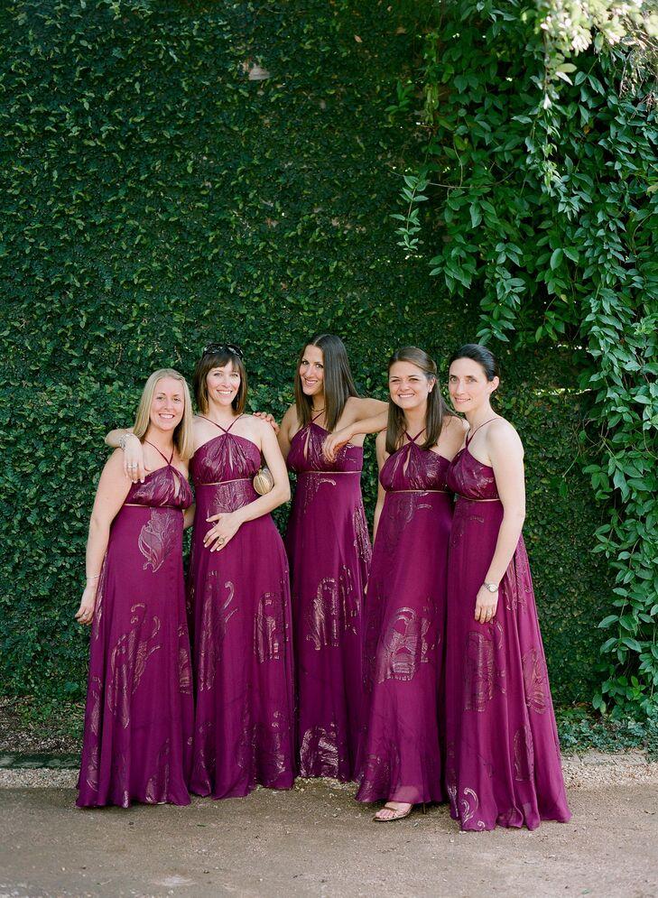 Magenta Maid of Honor Dresses
