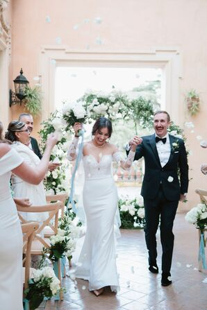 Elegant Recessional with Classic Bride and Groom