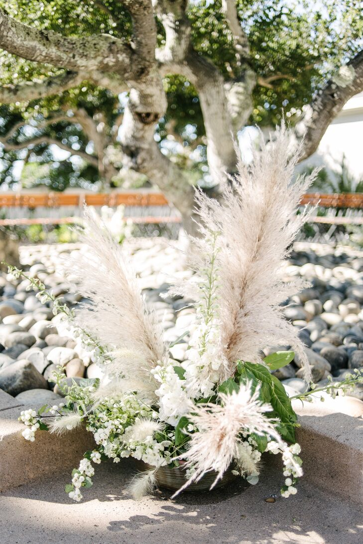Pampas Grass and Wildflower Arrangement