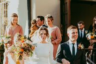 "The wedding of Erica Tighe and Paul Campbell began with a traditional Catholic ceremony at Holy Family Catholic Church in Los Angeles. ""It was extra s"