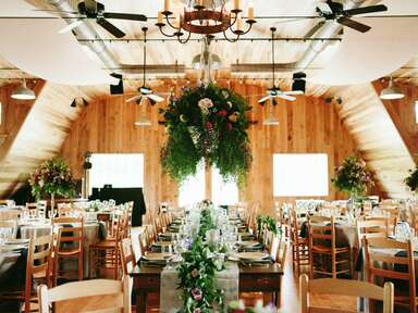 modern rustic indoor wedding venue
