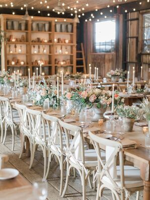 Romantic Rustic Reception with Wood Accents