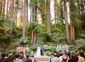 Outdoor Ceremony at Nestldown in Los Gatos, California