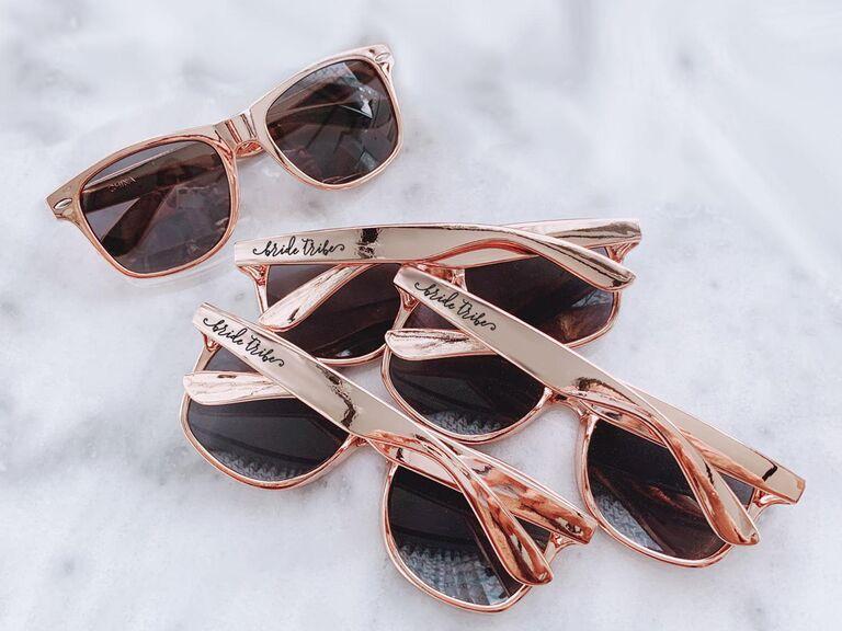 gold bachelorette sunglasses