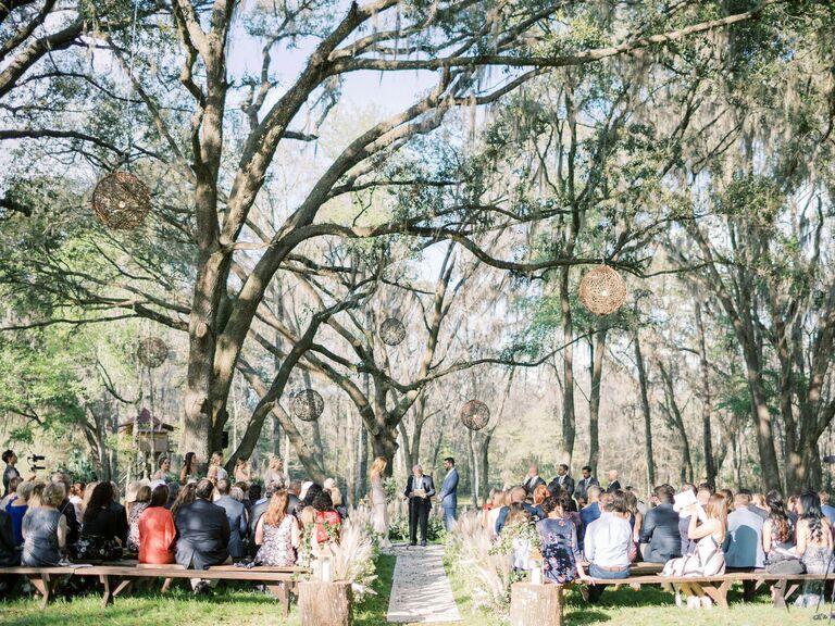 Backyard Wedding Ideas Hanging Decor
