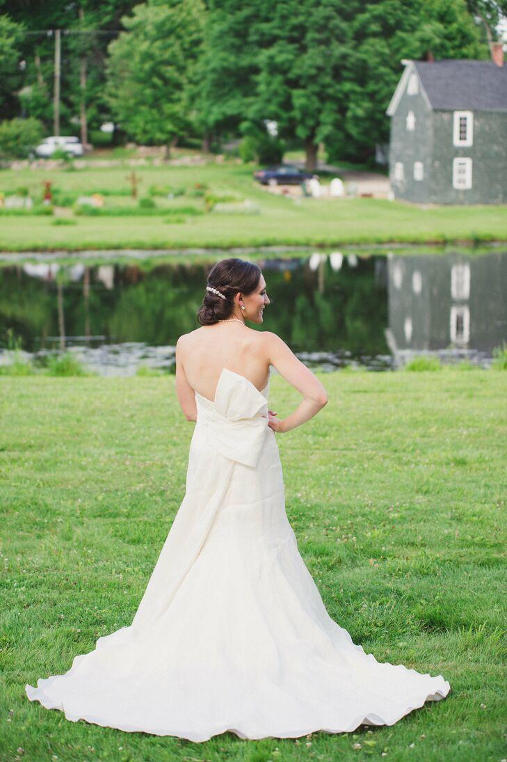 Dramatic Back White Wedding Dress