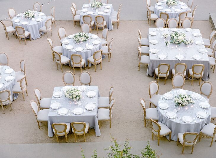 Elegant Round and Square Reception Tables