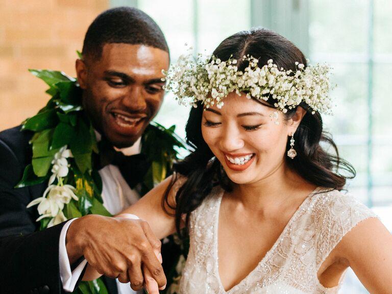 Bohemian Baby's Breath Flower Crown - bridal crowns