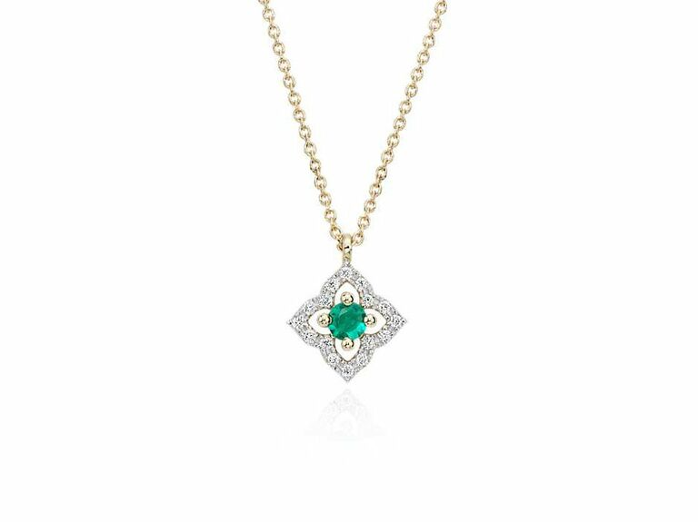 emerald necklace 16th anniversary gift