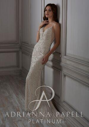 Adrianna Papell Platinum Eliza Sheath Wedding Dress