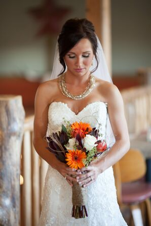 Textured Orange Bouquet