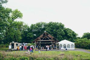 Outdoor Wedding Pavilion at Wollam Gardens in Jeffersonton, Virginia