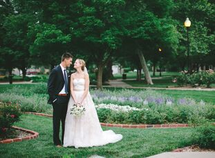 Letting the naturally beautiful and totally simple South Park space in Lawrence, Kansas, speak for itself, Meghan Flanders (30 a