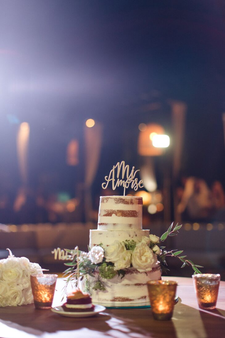 Naked Cake with Custom Topper
