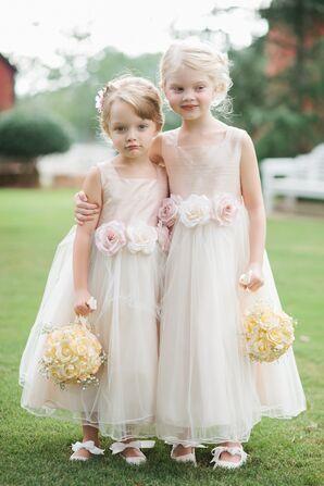 Blush Tulle Flower Girl Dresses