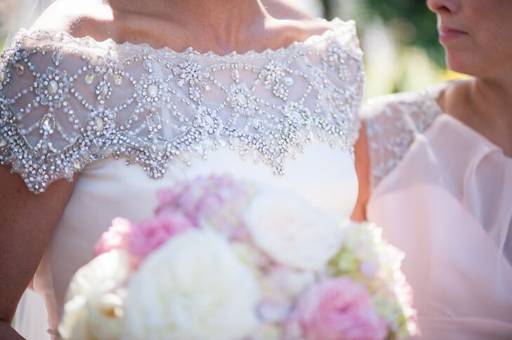 Delicate Beaded Justin Alexander Wedding Dress