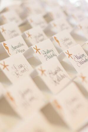 Starfish and Seahorse Escort Cards