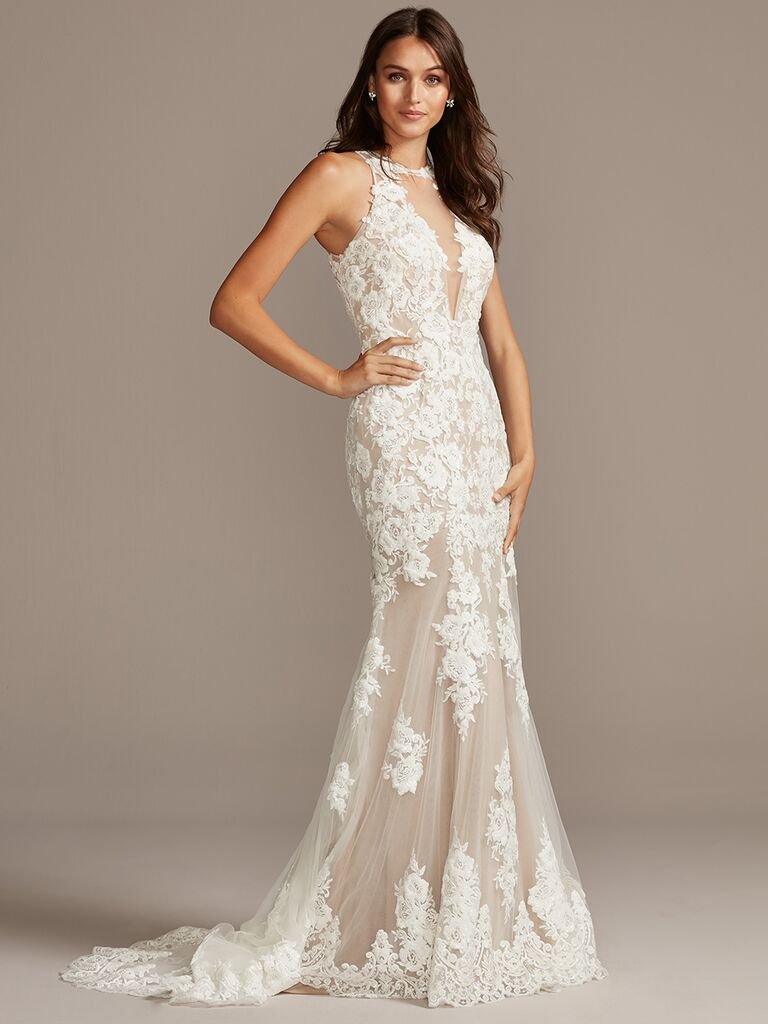 Galina Signature lace mermaid wedding dress