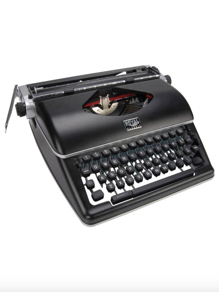 Backyard wedding ideas typewriter
