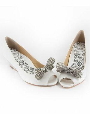 Hey Lady Shoes Peeptoe Wedgie w/little pearl bow Shoe