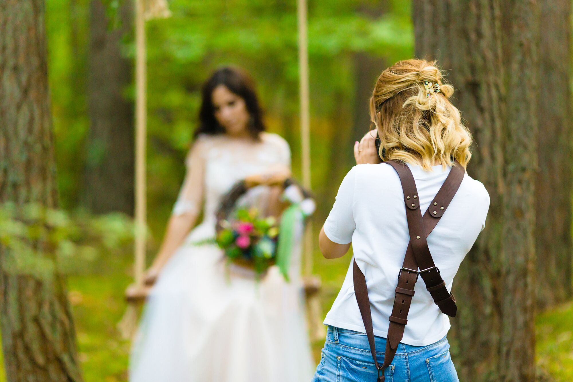 Photo session with bride to be