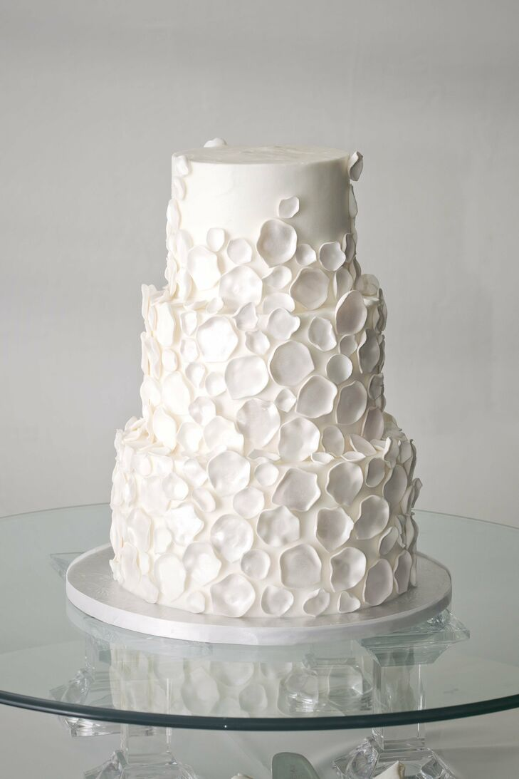 Three,Tier Cake with Petals