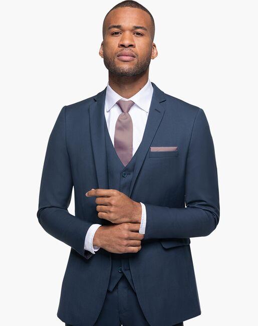 Generation Tux Slate Blue Notch Lapel Suit Blue Tuxedo