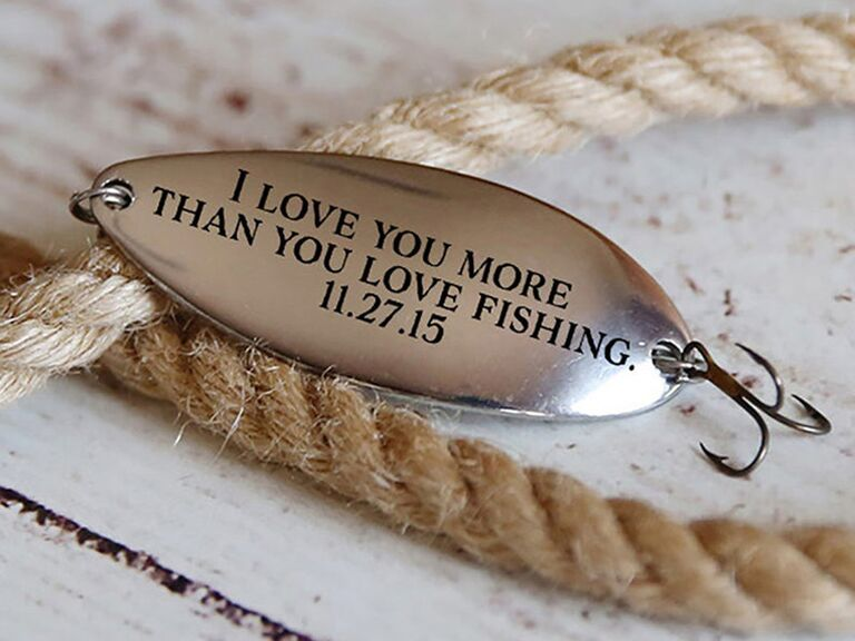 Personalized fishing lure father of the groom gift