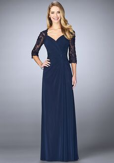 La Femme Evening 23244 Blue Mother Of The Bride Dress