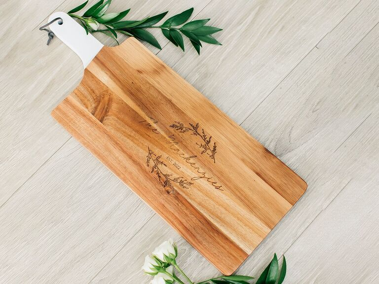 A personalized cutting board