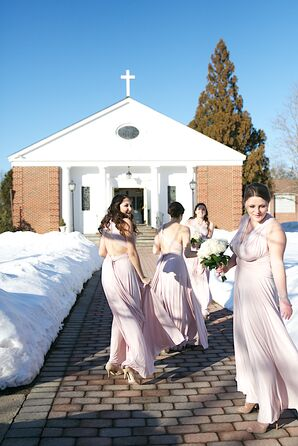 Dessy Blush Bridesmaid Dresses