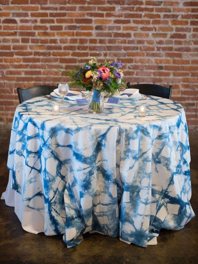 Tie-dye sweetheart table