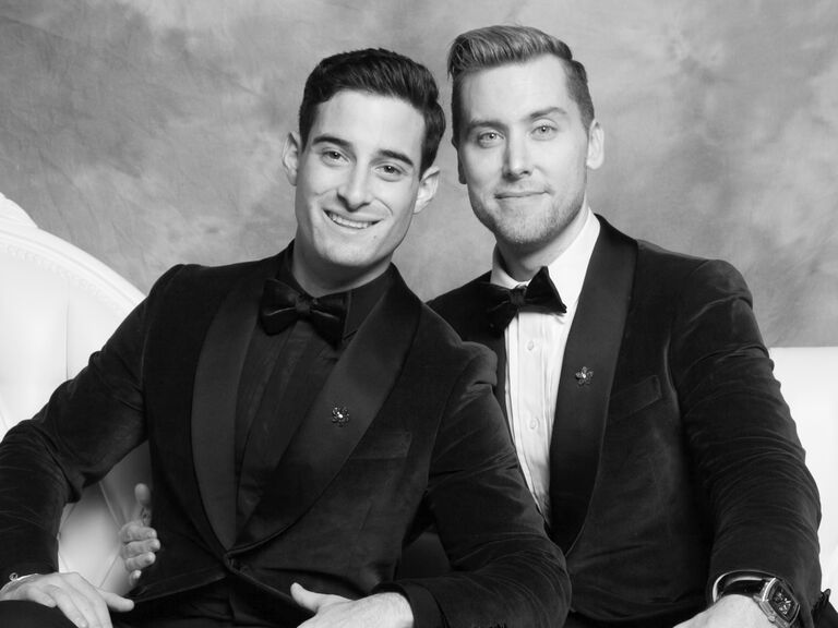 Lance Bass and Michael Turchin on their wedding day